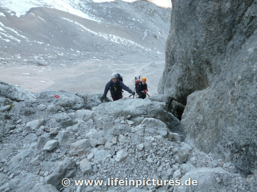 Klettersteig Zugspitze Stopselzieher : Zugspitze wanderung über den stopselzieher m u schwere bergtour